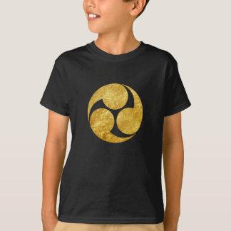 Oro del clan japonés de Kobayakawa lunes falso en Camiseta