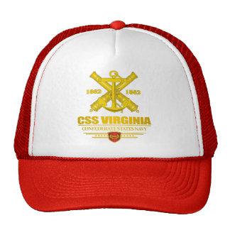 Oro del CSS Virginia (emblema de la marina de guer Gorros