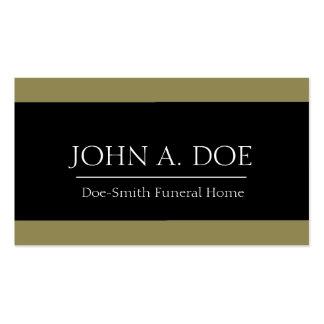 Oro del director de funeraria/bandera negra tarjetas de visita