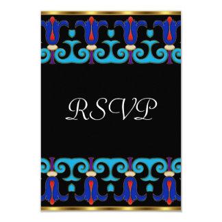 Oro del fiesta de RSVP retro Invitación 8,9 X 12,7 Cm