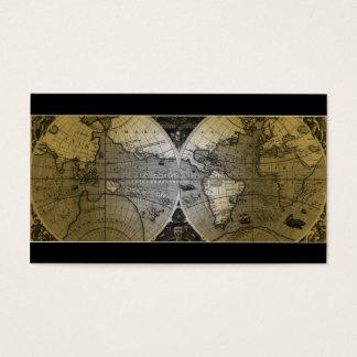 Oro del globo del mapa del mundo de la tarjeta de