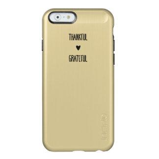 oro del iPhone - agradecido y agradecido Funda Para iPhone 6 Plus Incipio Feather Shine