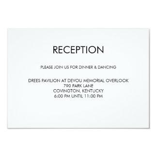 Oro del negro de la tarjeta de la recepción invitación 8,9 x 12,7 cm