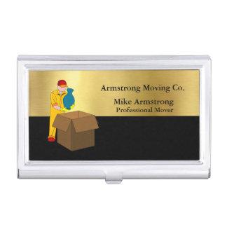 Oro del negro del motor de la compañía móvil caja para tarjetas de visita