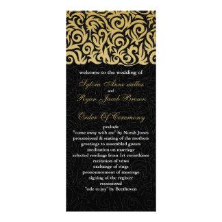 oro del ombre y boda negro de la frontera que tarjetas publicitarias personalizadas