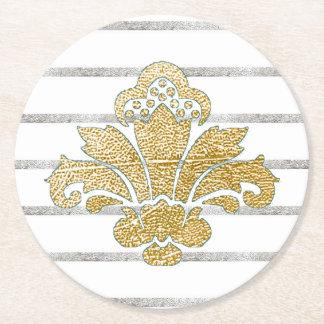Oro del práctico de costa del boda falso/TRULLO de Posavaso Redondo De Cartón