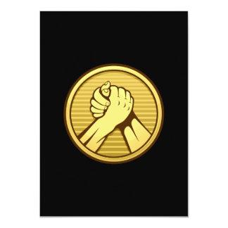 Oro del pulso invitación 11,4 x 15,8 cm