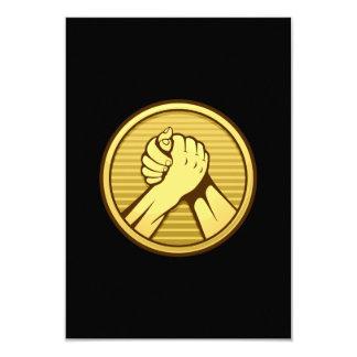 Oro del pulso invitación 8,9 x 12,7 cm