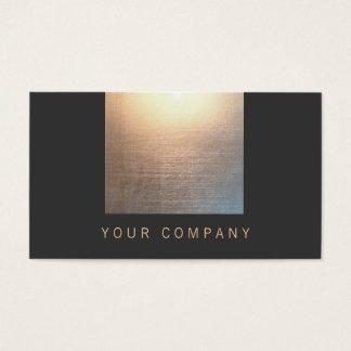 Oro del resplandor del zen y curador negro de la tarjeta de negocios