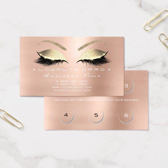 Oro del rosa color de rosa de los latigazos del tarjeta de visita