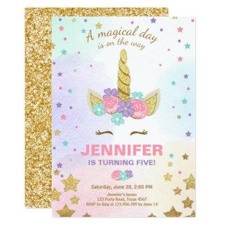 Oro del rosa de la invitación del cumpleaños del