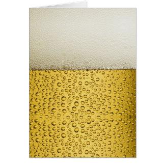 Oro divertido del vidrio de cerveza de las tarjeta pequeña