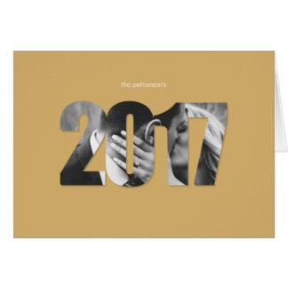 Oro Editable simple de la tarjeta de felicitación