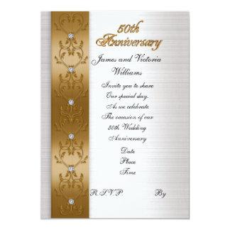 oro elegante de la 50.a invitación de la fiesta de