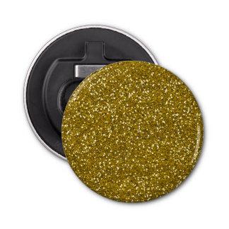 Oro elegante del brillo abrebotellas redondo