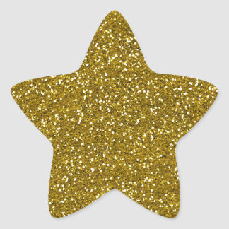 Oro elegante del brillo pegatina en forma de estrella
