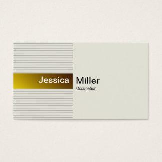 Oro elegante tarjeta de negocios