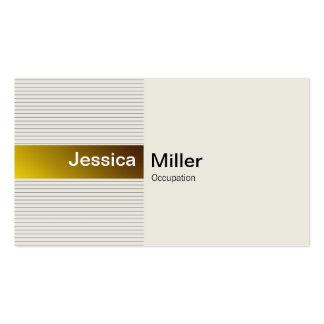 Oro elegante tarjetas de visita