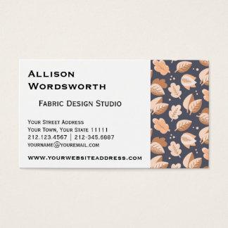 Oro elegante y hojas de otoño grises del art déco tarjeta de negocios