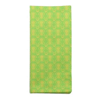 Oro en modelo abstracto verde servilleta de tela