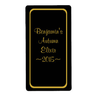 Oro especial de la etiqueta de la botella de vino etiqueta de envío