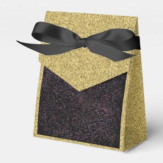 Caja Para Regalos Oro Flecked con la caja manchada negra del favor