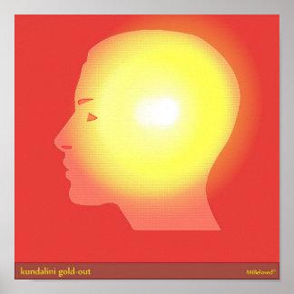 oro-hacia fuera del kundalini póster