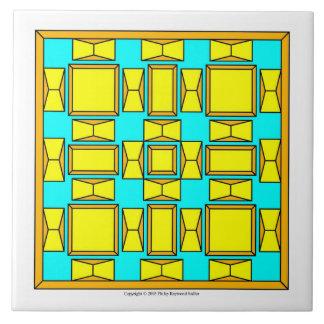 Oro holandés y amarillo azulejo cuadrado grande