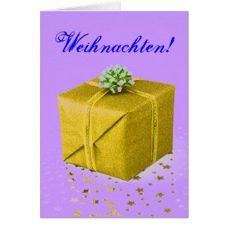 Oro III de Weihnachten de los regalos de Navidad Tarjeta De Felicitación