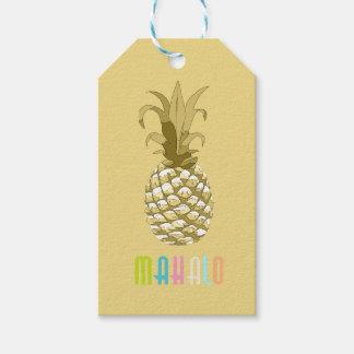 Oro Mahalo ID239 de la piña Etiquetas Para Regalos