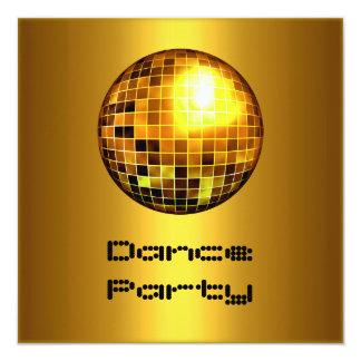 Oro Mirrorball del acontecimiento del baile