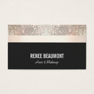 Oro moderno elegante intrépido y negro de la tarjeta de visita