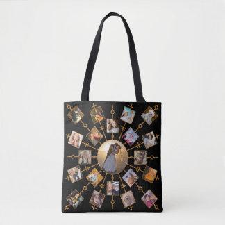 Oro negro bonito de las imágenes del collage 42 de bolso de tela