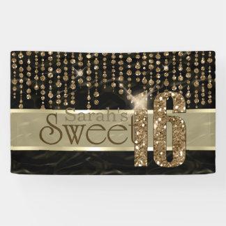 Oro negro ID260 del dulce dieciséis de la joya del Lona