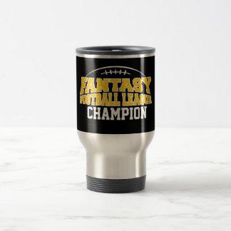 Oro negro y amarillo del campeón del fútbol de la taza térmica