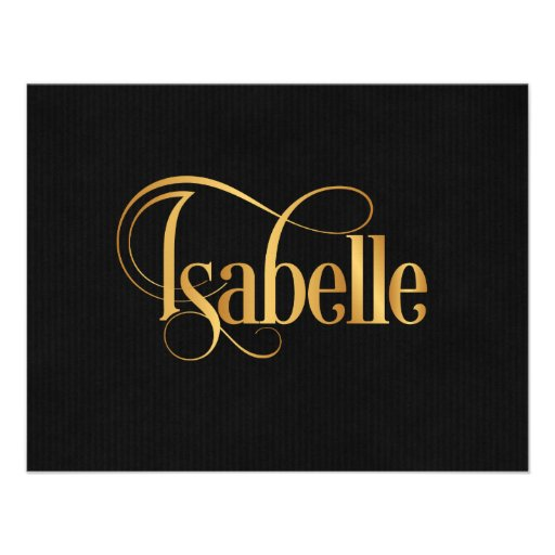 Oro personalizado de Isabel de la escritura de Swi Anuncios Personalizados