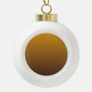 Oro picante Brown Ombre Adorno De Cerámica En Forma De Bola