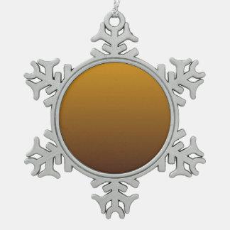Oro picante Brown Ombre Adorno De Peltre En Forma De Copo De Nieve