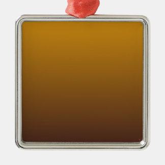 Oro picante Brown Ombre Adorno Navideño Cuadrado De Metal