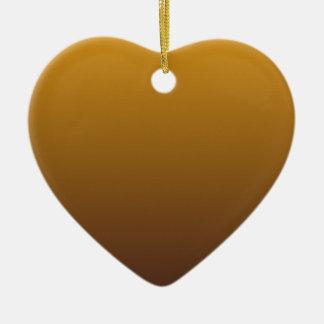 Oro picante Brown Ombre Adorno Navideño De Cerámica En Forma De Corazón