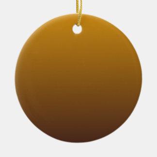 Oro picante Brown Ombre Adorno Navideño Redondo De Cerámica