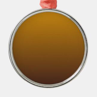Oro picante Brown Ombre Adorno Navideño Redondo De Metal