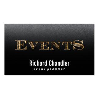 Oro/pizarra de los acontecimientos el | tarjetas de visita