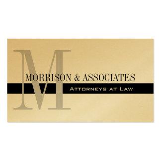 Oro profesional de las tarjetas de visita del abog