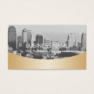 Oro profesional del agente inmobiliario metálico tarjeta de visita