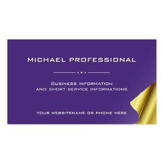 Oro profesional moderno de la violeta de la tarjetas de visita