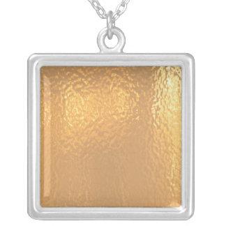 Oro PURO - amor y calor Colgante Cuadrado