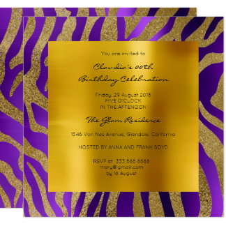 Oro púrpura de la mostaza del ciruelo de la piel invitación 13,3 cm x 13,3cm