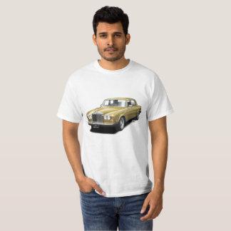 Oro que rueda la camiseta clásica real del coche