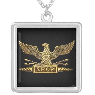 Oro romano de Eagle Colgante Cuadrado